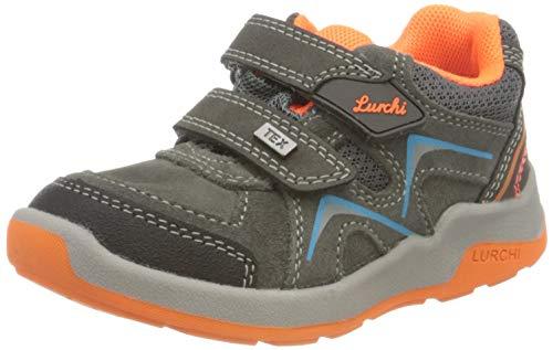 Lurchi Jungen MATTHIAS-TEX Sneaker, Grey ORANGE, 36 EU