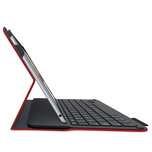 『LOGICOOL キーボード⼀体型保護ケース for iPad Air 2 レッド iK1051RD』の3枚目の画像
