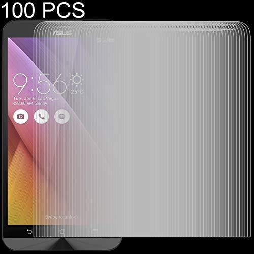 Protector de LYNHJCscreen Los Accesorios del teléfono 100 PCS 0.26mm 9H 2.5D Vidrio Templado de película for ASUS Zenfone IR ZB551KL móvil