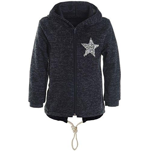 BEZLIT BEZLIT Mädchen Kapuzen Pullover Hoodie Jacke Glitzer Sweatshirt 21485 Blau Größe 116