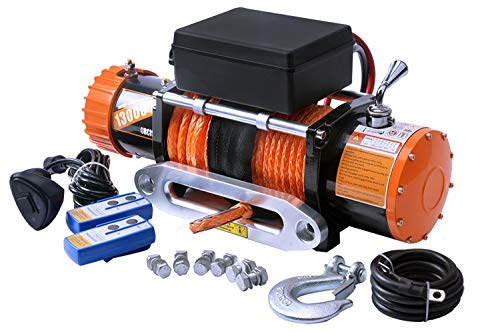 ORCISH 12V IP67 Waterproof Synthetic Rope Winch Electric Jeep Truck winches 13000lb
