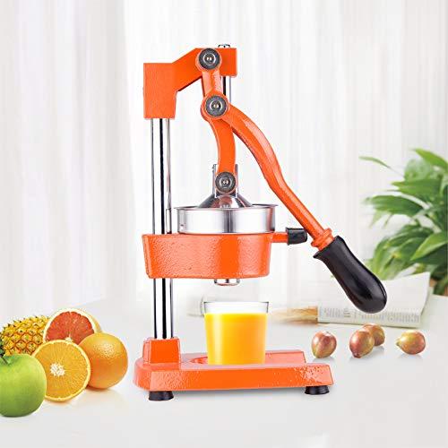 Z ZELUS Exprimidor de Frutas Manual para Naranja Granada Limón Exprimidor Manual de Naranjas Comercial Exprimidor de Grado Comercial para Hogar, Restaurante (Naranja)