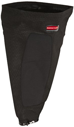 Rubbermaid Commercial FG9VCVBA12 Replacement Cloth Dust Bag for Traditional Upright Vacuum Cleaner, Black