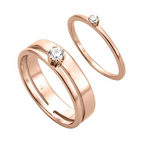 Esprit ESSE00351217 Damen Ring Rose weiß Zirkonia 16,9 mm Größe 53