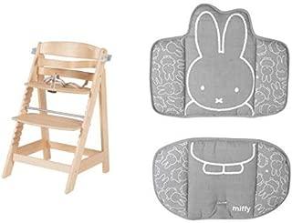 mit Sitzverkleinerer Miffy Sit Up III Holz schwarz Jugendhochstuhl Babyhochstuhl roba Treppenhochstuhl mitwachsend