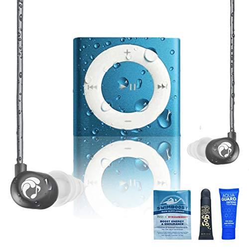 Underwater Audio 100% Waterproofing Compatible with iPod Shuffle Swimbuds Flip AquaGuard iFloatie and Fitgoo Cobalt