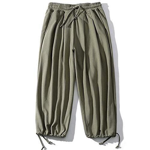 Pantalones de chándal para Hombre Color sólido Moda Cintura elástica Abertura de Tobillo Ajustable Pantalones de Calle Informal Todas Las Estaciones M