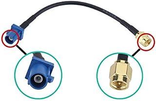Dasaita Antena GPS Coches Fakra C a Conector SMA Piggear Cable RG174 pere Qashqai Automóvil Módulo GPS Antena de rastreo S...