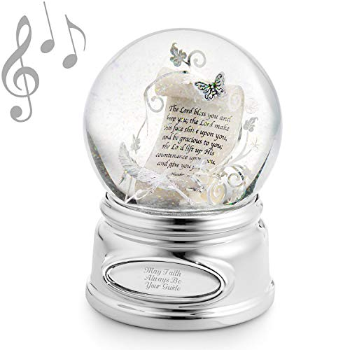 Personalized Inspirational Scroll Musical Snow Globe