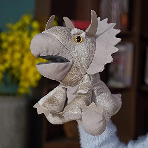 Muñeca suave de peluche de peluche, dinosaurio de simulación, juguete de peluche de mano, marionetas de animales con boca móvil, regalo de día para niños adultos y niñas de 30 cm