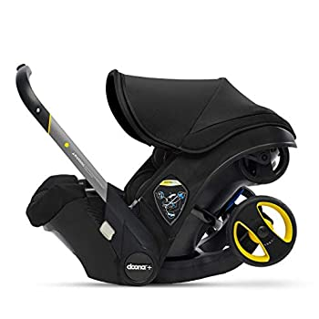 Doona Infant Car Seat & Latch Base - Car Seat to Stroller in Seconds - Nitro Black US Version