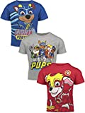 Nickelodeon Paw Patrol Mighty Pups Toddler Boys 3 Pack Tee 4T