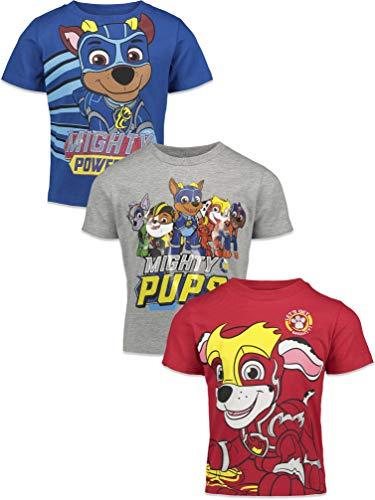 Nickelodeon Paw Patrol Mighty Pups Little Boys Kids 3 Pack Tee 7