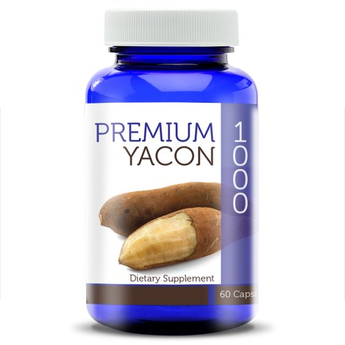 Premium Yacon 1000-100% Pure Yacon Capsules (1000 mg) for Weight Loss and Digestive Nutrition, Raw Root Powder Gel Caps – The Perfect Yacon Syrup Alternative!