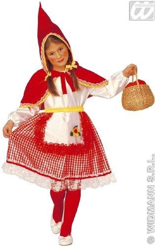 WIDMANN Widman - Disfraz de Caperucita Roja para niña, talla 3-4 años (3470C)