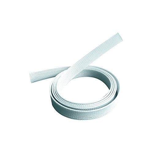 PureMounts PM-ZCCS-SOCKS-20W Universeller Polyester-Kabelschlauch, selbst zusammenziehend, Ø 20mm, 1,80m, weiß