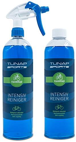 TUNAP SPORTS Intensiv Fahrradreiniger, 2 x 1000 ml Spray   Pflege und Wartung von MTB bis Rennrad - Rahmen und Teile (2in1-Pack)…