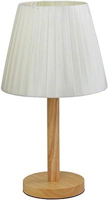 クリエイティブテーブルランプ現代のスタイリッシュな暖かい木製ベッドベッドサイドテーブルランプ (Color : 3W button)