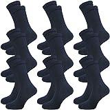 9 Paar Damen und Herren Venensocken - Socken ohne Gummi - ohne drückende Naht - Komfortb& (35-38, blau)