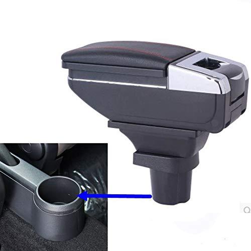 Reposabrazos de cuero con caja de almacenamiento para consola central del coche de SZSS-CAR