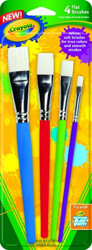 Crayola Big Paint Brushes (4Count Flat) (05-3520)