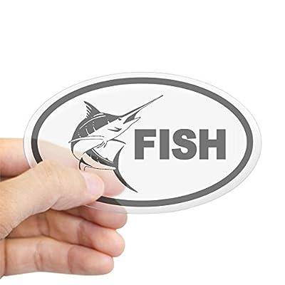 CafePress Deep Sea Fishing Swordfish Oval Bumper Sticker from CafePress