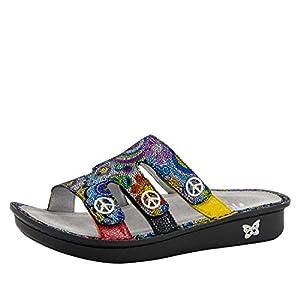 Alegria Womens Venice Slide Sandal Hippie Chic Dottie Size 36 EU (6-6.5 M US Women) | DeHippies.com