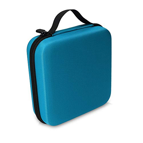 kwmobile Aufbewahrungstasche für Tonies - aus Nylon - Tonies Transportbox für bis zu 20 Tonie Figuren - Hartschale Box in Hellblau
