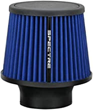 Spectre Universal Clamp-On Air Filter: High Performance, Washable Filter: Round Tapered; 3 in (76 mm) Flange ID; 6.5 in (165 mm) Height; 6 in (152 mm) Base; 4.75 in (121 mm) Top, SPE-9136