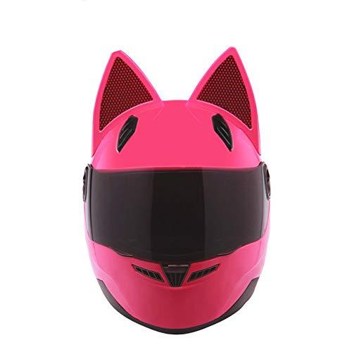 MYSdd Motorradhelm männlich weiblich Persönlichkeit Moto Helm Capacete De Moto weiß Integralhelm Casco Moto - pink X XXL
