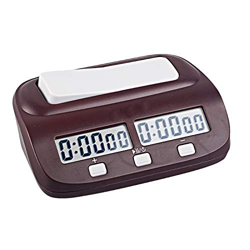 DYecHenG Temporizador de Ajedrez Digital Professional Chess Clock Cuenta Arriba Timer Timer Sports Electronic Chess Clock Tablero Juego Chess Watch de Ajedrez Chino (Color : Marrón, Size : One Size)