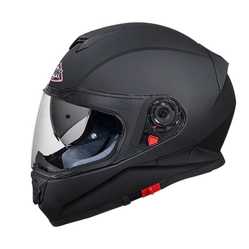 SMK MA200 Twister Pinlock Fitted Full Face Helmet with Clear Visor (Matt Black, L)