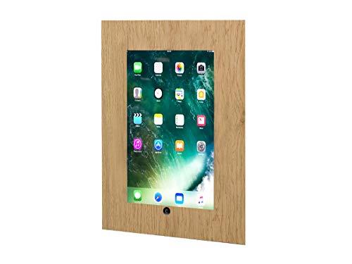 TabLines TWE035O Tablet Wandeinbau für Apple iPad 5 (2017) mit Homebutton Eiche