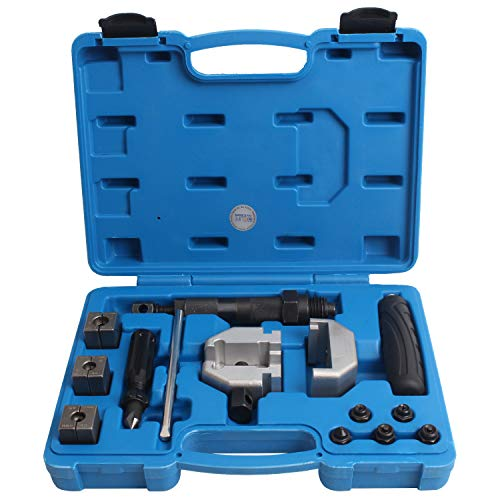 CCLIFE Hydraulisches Bremsleitungsbördelgerät Bremsleistung Bördelgerät Mobiles Hydraulisch Bördelwerkzeug