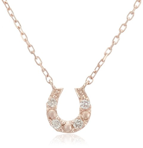 [VAヴァンドーム青山] VA VENDOME AOYAMA K10PG ダイヤモンド 0.02ct 馬蹄 ホースシュー ネックレス GJAN012040DI