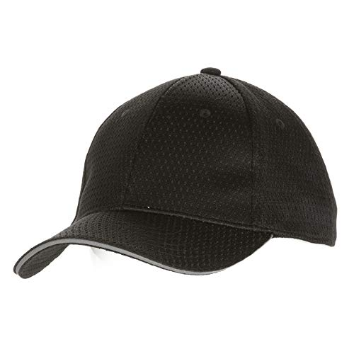 Gorra de béisbol BCCT-GRY-0 Colour by Chef Works,fresca y transpirable, borde color gris, talla única, color negro