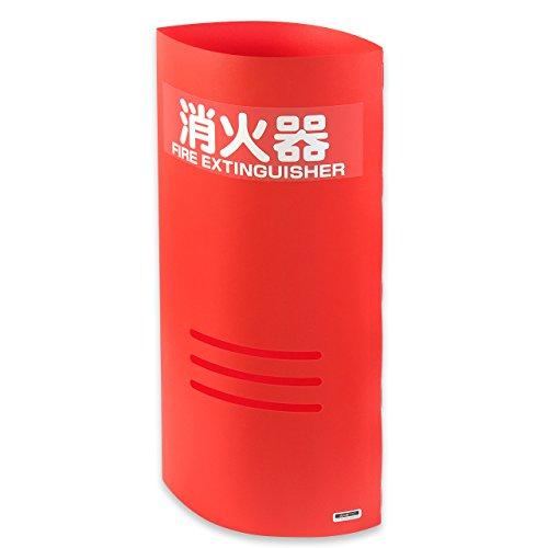消火器マスク 赤(10型消火器用 消火器カバー 標準ステッカー付)#32020
