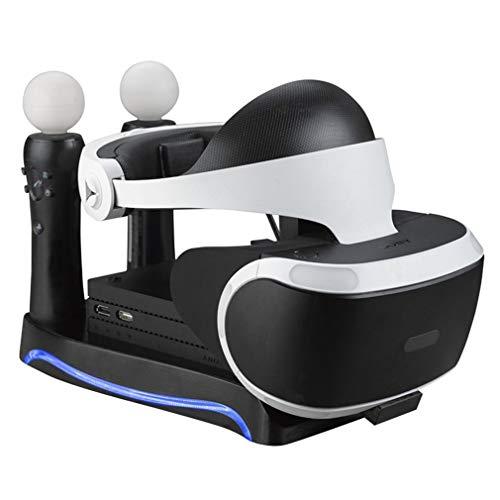JIE Cargador Base de Carga Base de Soporte para Controlador de Juegos Sony PS4-VR Negro