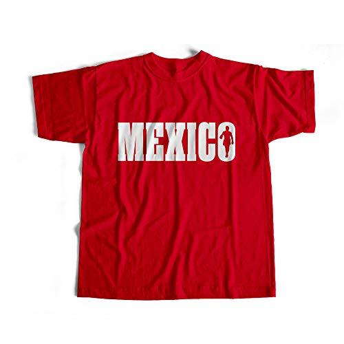 Dibbs Ropa México Boxeo Camiseta/Boxeo Camiseta/Gym Top/Varios Colores/Personalizado/Campeonato Boxeo/Campo de Entrenamiento Rojo rosso XL