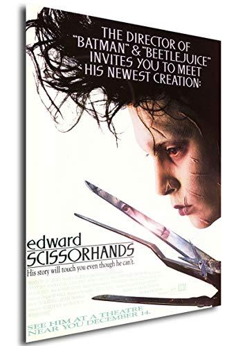 Instabuy Poster Edward mit den Scherenhänden (Edward Scissorhands) Vintage Theaterplakat- A3 (42x30 cm)