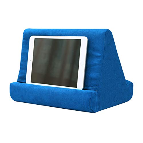 Tablet Stand Sponge Pillow for iPad Samsung Huawei Xiaomi Tablet Holder Phone Support Bed Rest Cushion Tablette Reading Holder,Blue