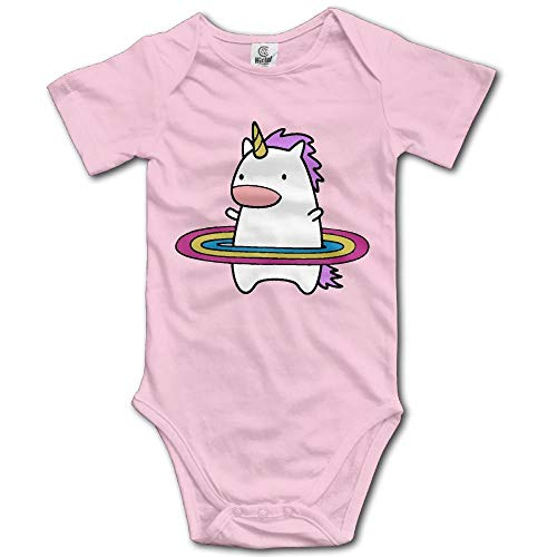 Baby Outfit Creeper Short Sleeves Onesies - Hula Hoop Rainbows and Unicorns 2 0-3 Months