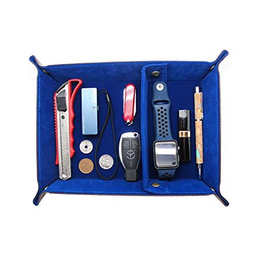 Boshiho Bandeja de cuero, para llaves de teléfono, caja de moneda, bandeja...
