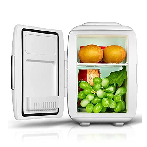 Mini Fridge Portable Mini Refrigerator, Compact Refrigerator with AD/CD Power Supply, Adjustable Temperature (Color : White, Size : 110V)