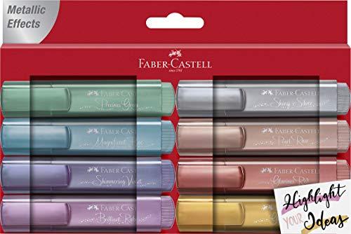 Faber-Castell 154689 - Evidenziatore TL 46 Metallic, confezione da 8