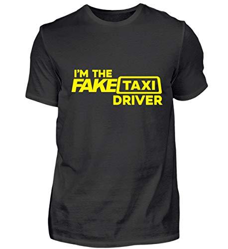 Lustig I'm The Fake Taxi Driver Auto Fahrer Beruf Geschenk Geschenkidee - Herren Shirt -M-Schwarz