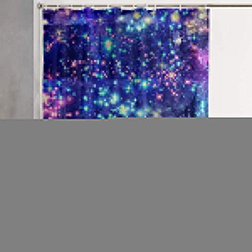 Cortina de la Ducha Colorful Galaxy Bling Bling Stars Waterproof Polyester Shower Curtain with Hooks 60Wx72H Inches for Decorative Bathroom Curtain