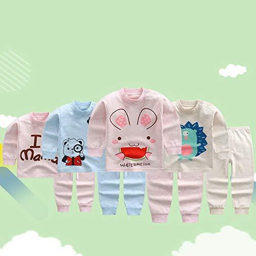 CamKpell Hiver Enfants Petites filles Garçons Mode Coton Manches longues Tenues de loisir Tenue agréable pour les vêtements de tous les jours, uniformes - Multicolore - 60