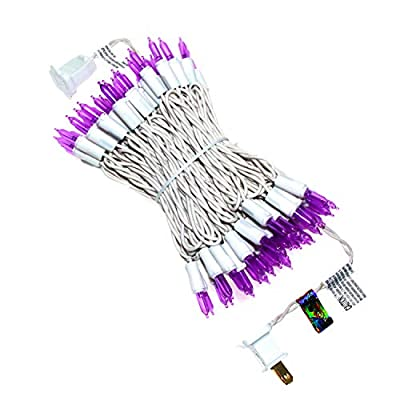 Purple Outdoor String Lights, New Always On LED Lights String 35 FT with 100 Light, UL Certified Commercial Grade Mini Lights Set, for Indoor Outdoor Party, Thanksgiving, Valentine's Day, Garden.