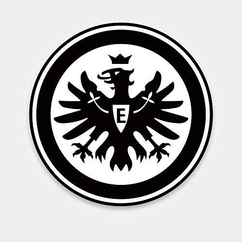 FANSAT Eintracht Frankfurt SGE Wandcover mit LED Beleuchtung - Fußballmannschafts Wappen für echte Fans - Fanartikel Bundesliga Sportverein Fußball Wandbild Adler Attila, EF806, Schwarz Weiß